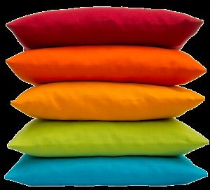 Zirbenholz Kissen mit frischen Zirbenflocken