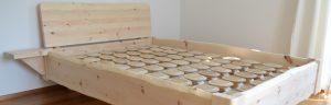 Zirbenbett mit Tellerlattenrost Holz Sigi