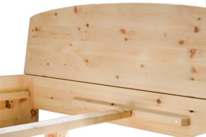 Zirbenholzbett Modell Rundsee